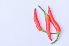 Grupa czerwoni chillies Fotografia Royalty Free