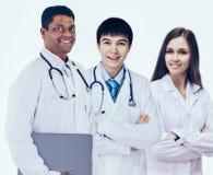 Grupa dobre lekarki Odosobniony biały tło obraz stock