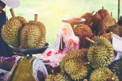 Grupa durian w rynku Zdjęcia Royalty Free