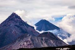 Grupa dymień volcanoes Obrazy Stock