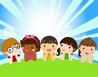 Grupa dzieci Obraz Royalty Free