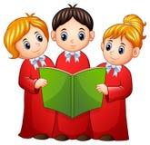 Grupa dzieci chórowi ilustracja wektor