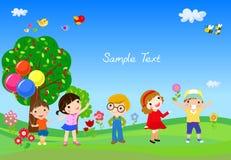 grupa dzieci grają Obrazy Stock