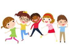 Grupa dzieci ma zabawę royalty ilustracja
