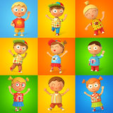 Grupa dzieci skakać royalty ilustracja