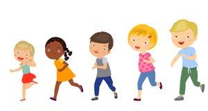 Grupa dzieciaków biegać ilustracji