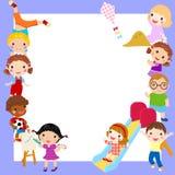 Grupa dzieciak rama Obraz Stock
