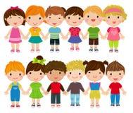 Grupa dzieciaka set Obraz Stock