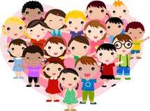Grupa dzieciaki ilustracja wektor