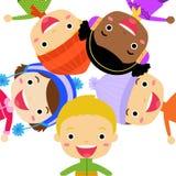 Grupa dzieciaki - zima Obraz Royalty Free