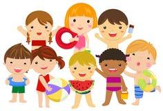 Grupa dziecka lata kolekcja ilustracji