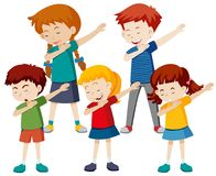 Grupa dziecko odrobina ilustracja wektor