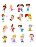 Grupa dziecko set royalty ilustracja
