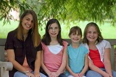 grupa dziewczyn Obrazy Royalty Free