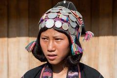 grupa etnicza Laos portreta silos Zdjęcie Royalty Free