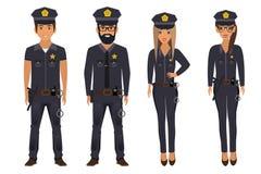Grupa funkcjonariuszi policji wektor ilustracji