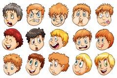 Grupa głowy royalty ilustracja