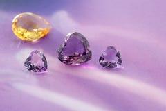 Grupa gemstones. Zdjęcia Royalty Free