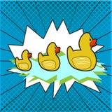 Grupa Gumowe kaczki royalty ilustracja