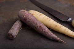 Grupa heirloom marchewki - 6 Obrazy Stock
