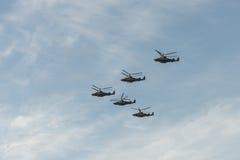 Grupa helikoptery Zdjęcia Royalty Free