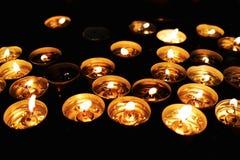 Grupa herbaciane świeczki, blask świecy obrazy royalty free