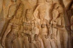 grupa ind reliefowa rzeźby Zdjęcia Royalty Free