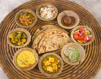 Grupa Indiański jedzenie zdjęcie stock