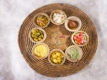 Grupa Indiański jedzenie obraz stock