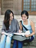 Grupa Indiańscy student collegu. Obraz Royalty Free