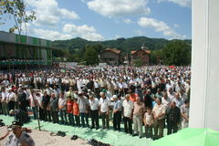 Grupa Islamski wierny w modlitwie Zdjęcia Royalty Free