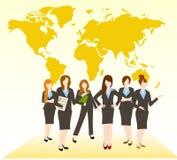 Grupa kobieta royalty ilustracja
