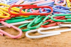 Grupa kolorowa papierowa klamerka Zdjęcie Stock