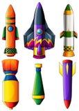 Grupa kolorowe rakiety ilustracji