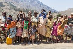 Grupa kolorowi Afrykańscy ludzie Zdjęcia Royalty Free