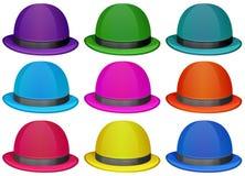 Grupa kolorowi kapelusze Zdjęcia Royalty Free