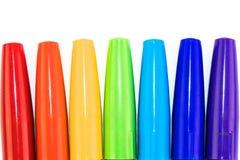 Grupa kolorowy markiera pióro na białym tle Zdjęcia Stock