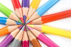 Grupa kolorowy ołówek Drużynowy pracy zespołowej pojęcie Zdjęcia Royalty Free