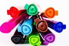 Grupa kolorowy pióro zdjęcie royalty free
