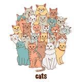 Grupa koty royalty ilustracja