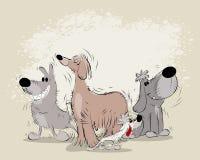 Grupa kreskówka psy ilustracja wektor