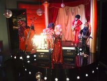 Grupa kukły na scenie Zdjęcie Stock