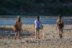 Grupa laotian dziewczyny Zdjęcia Royalty Free