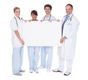 Grupa lekarki target861_0_ pustą deskę Obraz Stock