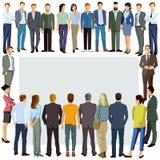 Grupa ludzi ilustrująca wokoło kopii przestrzeni Obraz Stock
