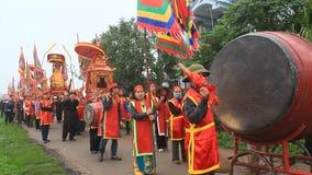 Grupa ludzi uczęszcza tradycyjnych festiwale zdjęcie wideo