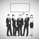 Grupa ludzi z mowa bąblem dla twój teksta ilustracji