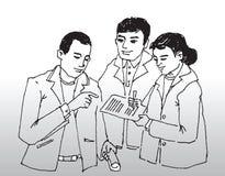 Grupa ludzie biznesu   royalty ilustracja