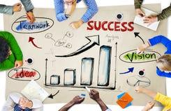 Grupa ludzie biznesu Dyskutuje O biznesie Zdjęcie Stock