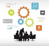 Grupa ludzie biznesu Dyskutuje Z przekładnia symbolami ilustracji